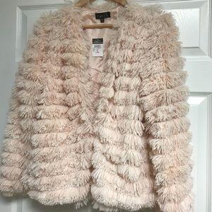 NWT Rue 21 fuzzy jacket peach colored